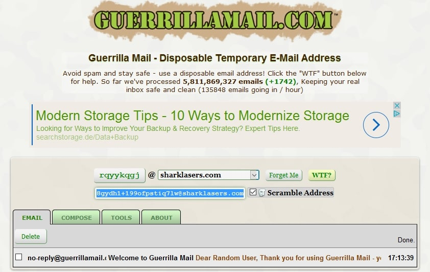 mix bitcoin guerilla mail
