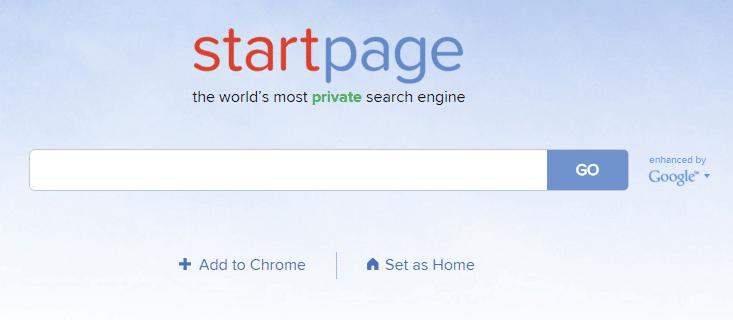 startpage ss