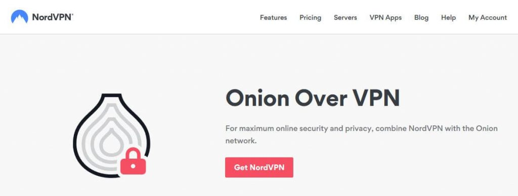 NordVPN's Onion Over VPN page.