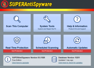 superantispyware spyware removal tools