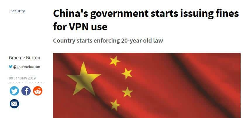 VPN use fine headline.