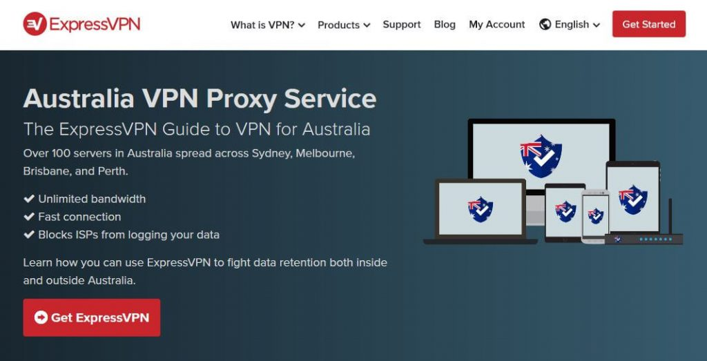 ExpressVPN: best VPN for Australia.