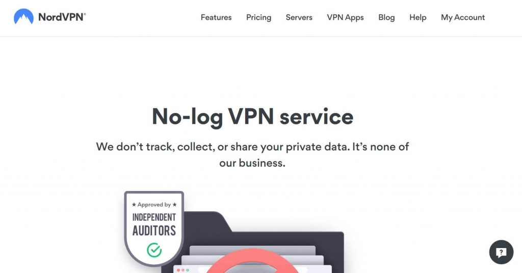 NordVPN private VPN.