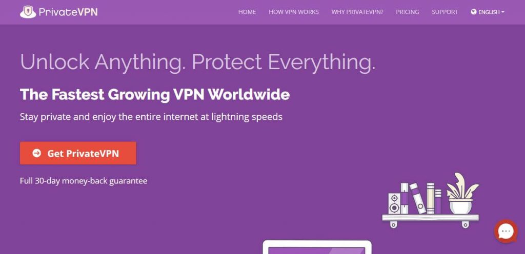 PrivateVPN best private VPN for China.