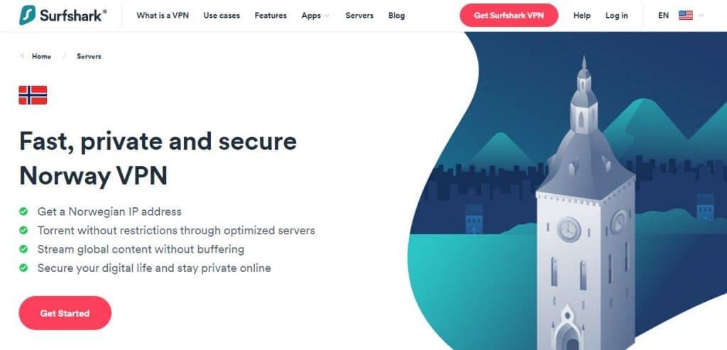 Surfshark Norway VPN.