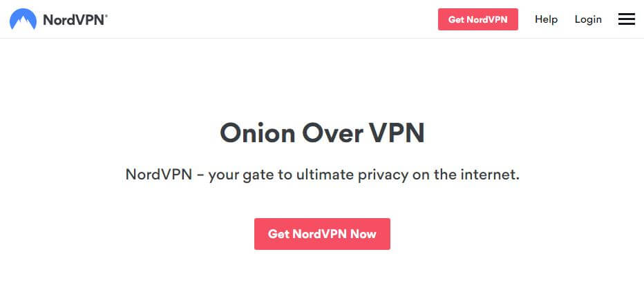 NordVPN Tor page.